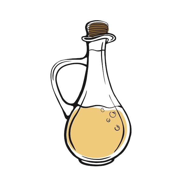 手描きのオリーブオイルボトルオリーブオイル
