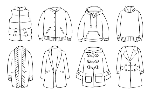 Handdrawn комплект одежды для холодной погоды весна осень зима
