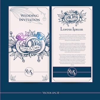 手作りの結婚式招待状のデザイン