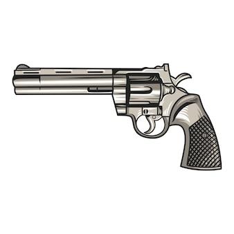 Handgun pistol illustration