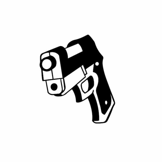 Handgun symbol logo vector illustration
