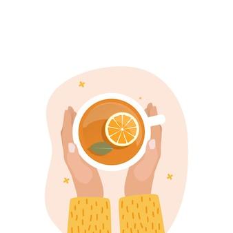 Ручной чай в чашке