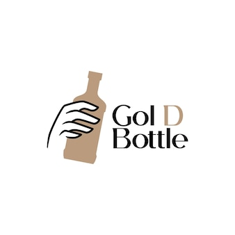 Handhold bottle liquor drink whiskey beer logo