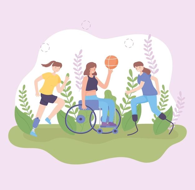 장애인 여자 스포츠