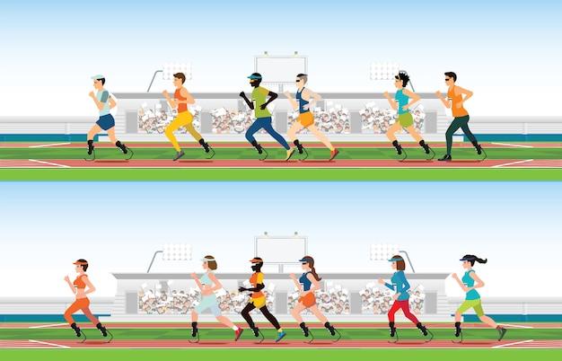 Handicapped sprinter
