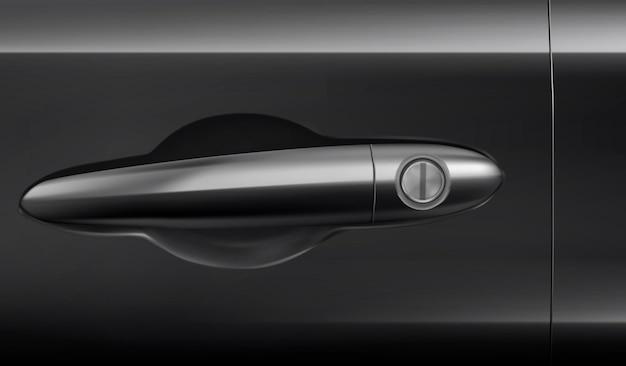 Ручка для открытия, закрытия и блокировки двери автомобиля реалистичная иллюстрация