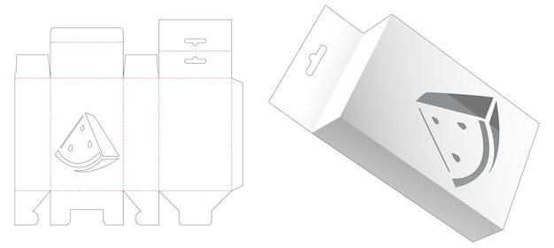 수박 모양의 창 다이 컷 템플릿으로 포장 상자 처리