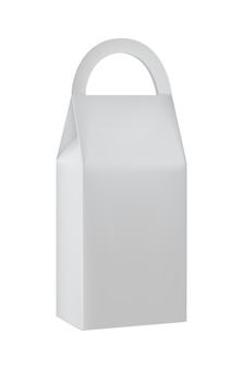 Handle take away paper bag with copy space