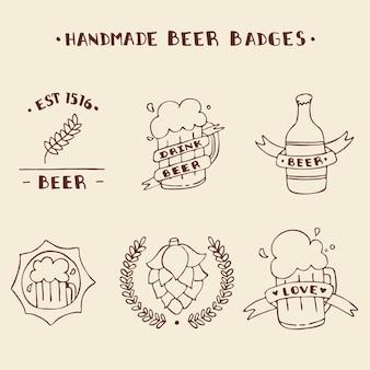 Handmade beer badges