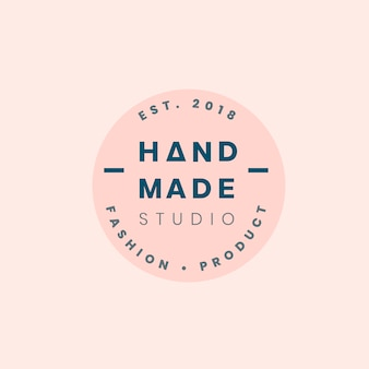 Handmade crafts logo badge design