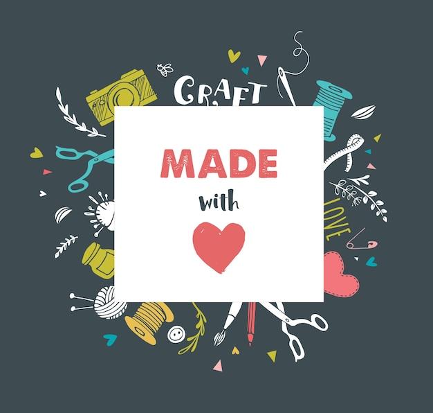 手作り、工芸品のワークショップの背景