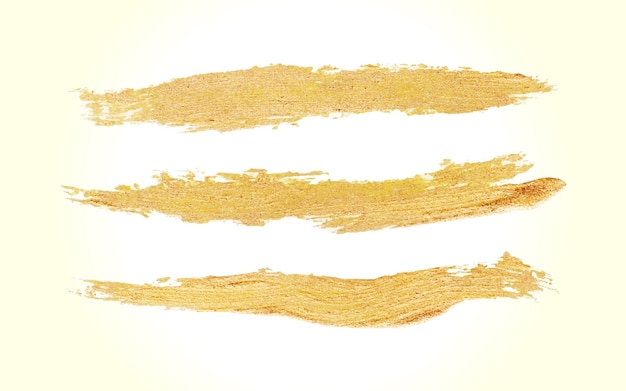 Handmade golden brush stroke paint vector