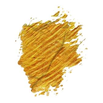 Золотая кисть ручной работы мазки краски