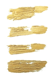Набор мазков золотой кистью ручной работы