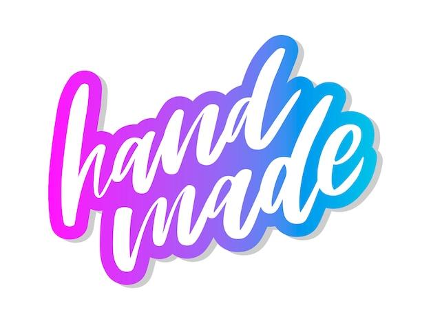 Handmade lettering.