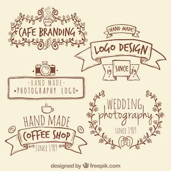 手作りレトロなロゴ