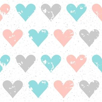 手作りのシームレスなパターンの背景。カード、招待状、壁紙、アルバム、スクラップブック、休日の包装紙、織物、衣服、tシャツなどの抽象的な青、灰色、ピンクの色のパターン