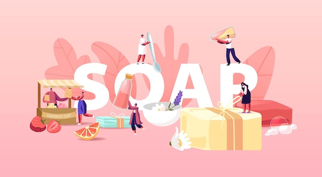 Handmade soap illustration