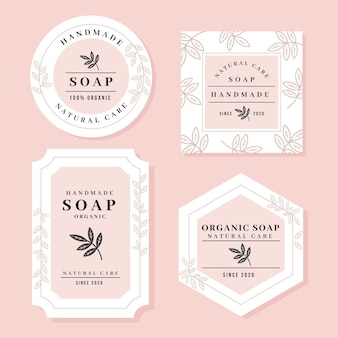 Handmade soap label collection