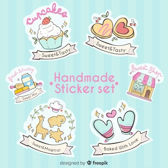 Handmade sticker set