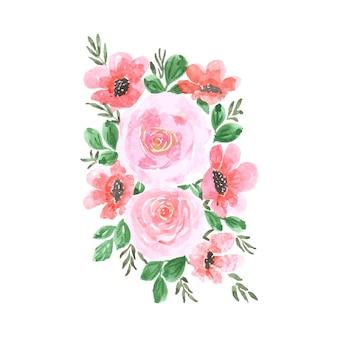 Акварель цветочные арт дизайн ручной работы