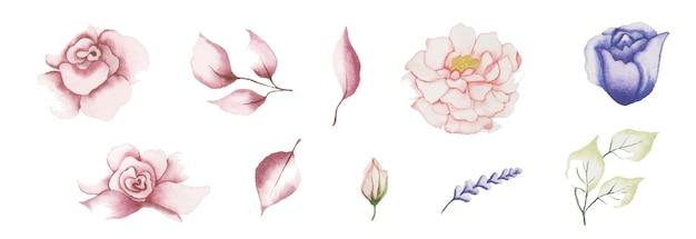 Handmade watercolor floral art design