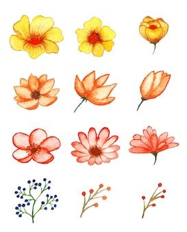 Набор акварели цветочного искусства ручной работы