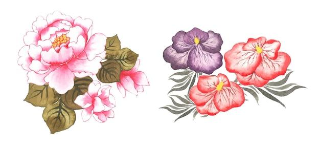 手作り水彩花アートセット
