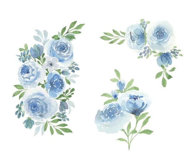 Handmade watercolor floral art