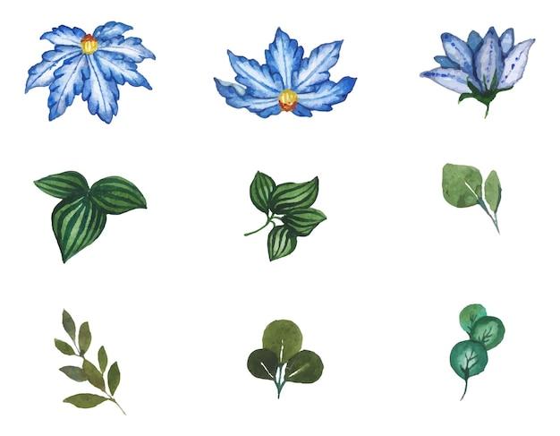手作りの水彩花アート