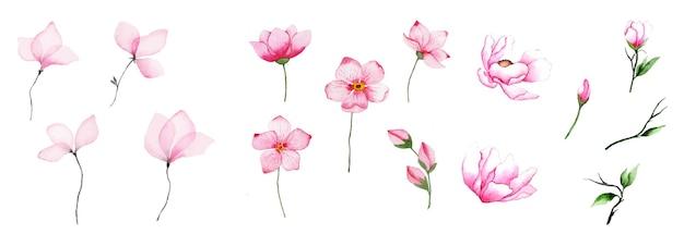 手作りの水彩画の花のアート