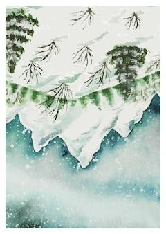 Handmade watercolor scenery art