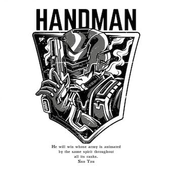 Handman black and white