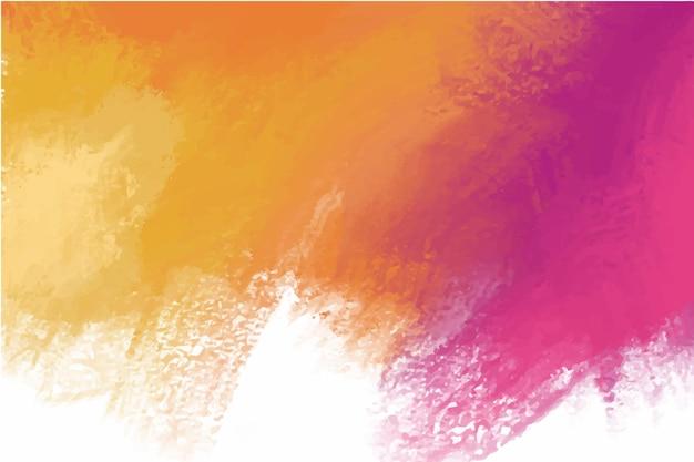 手描きの背景紫オレンジ色