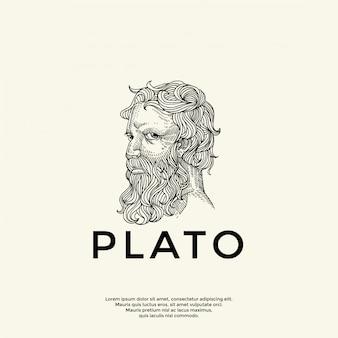 Handrawn plato logo template