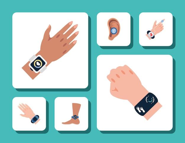 Носимые устройства для рук и ног