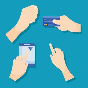 Hands and credit card
