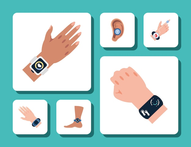 Hands and foot wearable devices