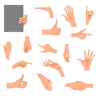 分離された手のジェスチャーの図