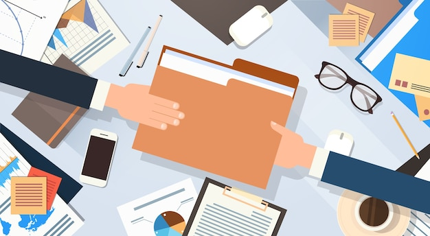 Руки дают документы документа документа