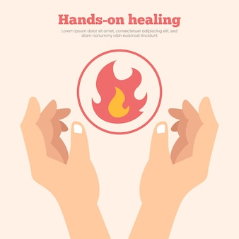 Hands-on healing template design