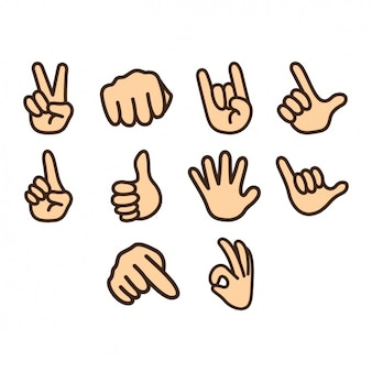 Hands icons collection