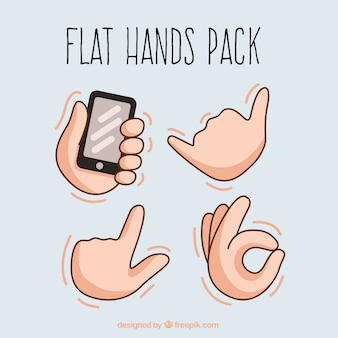 Hands language set