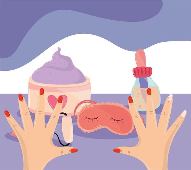 Hands manicure spa