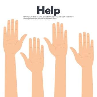 손 사람들이 도움말 아이콘