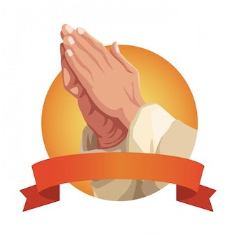 Hands praying sign