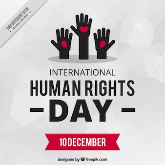 Hands raised for human rights day