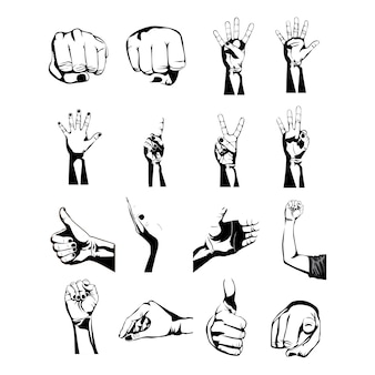 Hands simbols