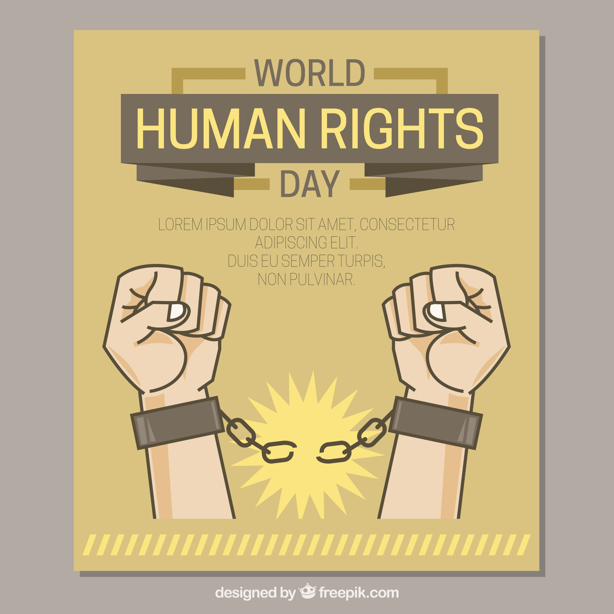 Hands that break chains, human rights day