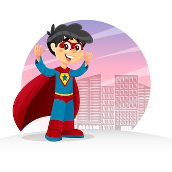 Hands up super boy